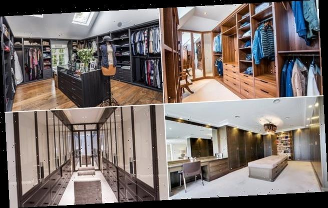We reveal four homes for sale with spectacular dressing rooms