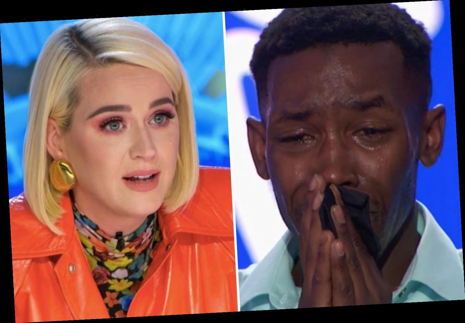 Katy Perry slammed for praising American Idol contestant Calvin Upshaw as fans accuse judges of giving 'sympathy votes'