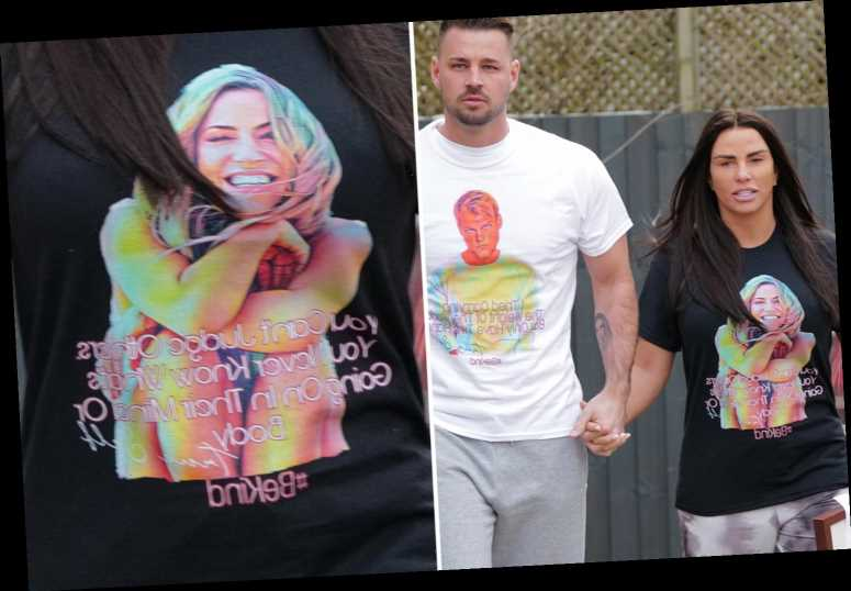 Katie Price wears Caroline Flack 'Be Kind' T-shirt on first anniversary of her death
