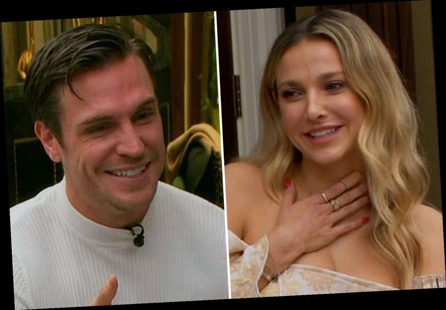 Celebs Go Dating's Sophie Hermann fights back tears as Tom Zanetti opens up about his son on their first date