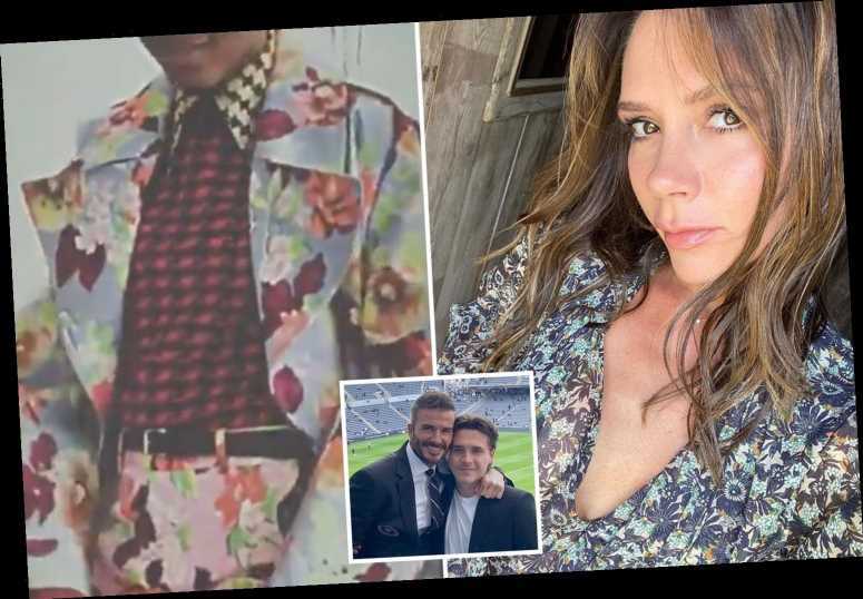 David Beckham and son Brooklyn heap praise on Victoria's new fashion collection in sweet tributes