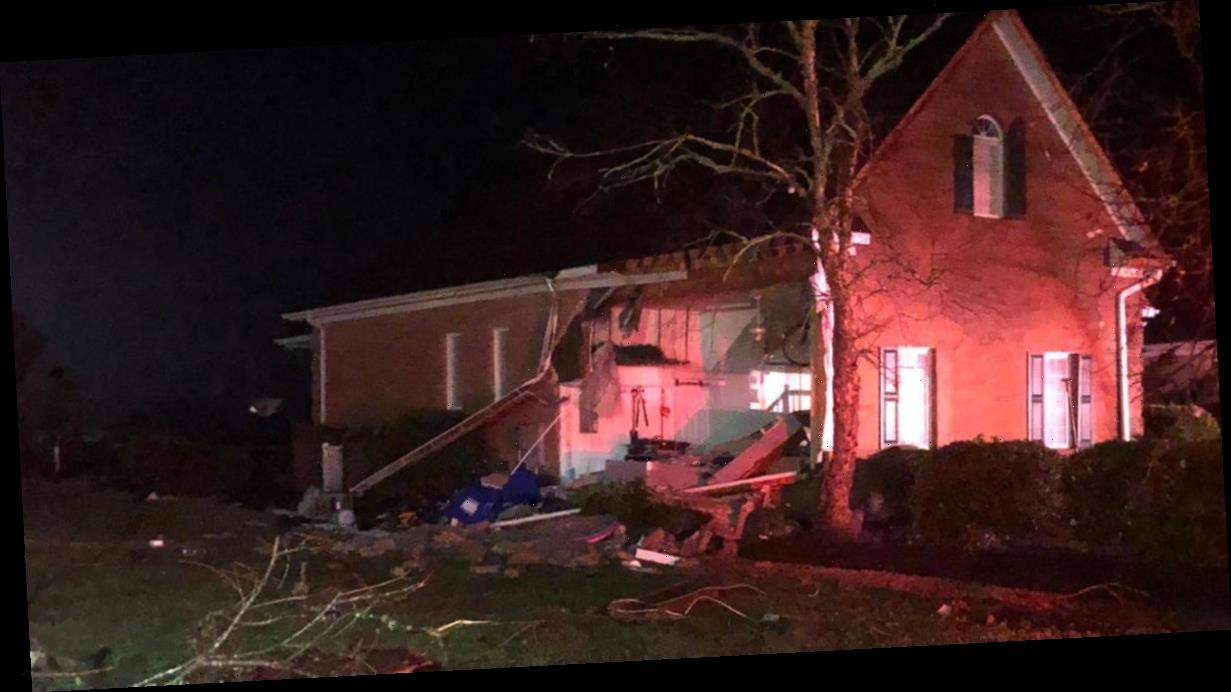 Tornado tears through parts of North Carolina and traps people in homes