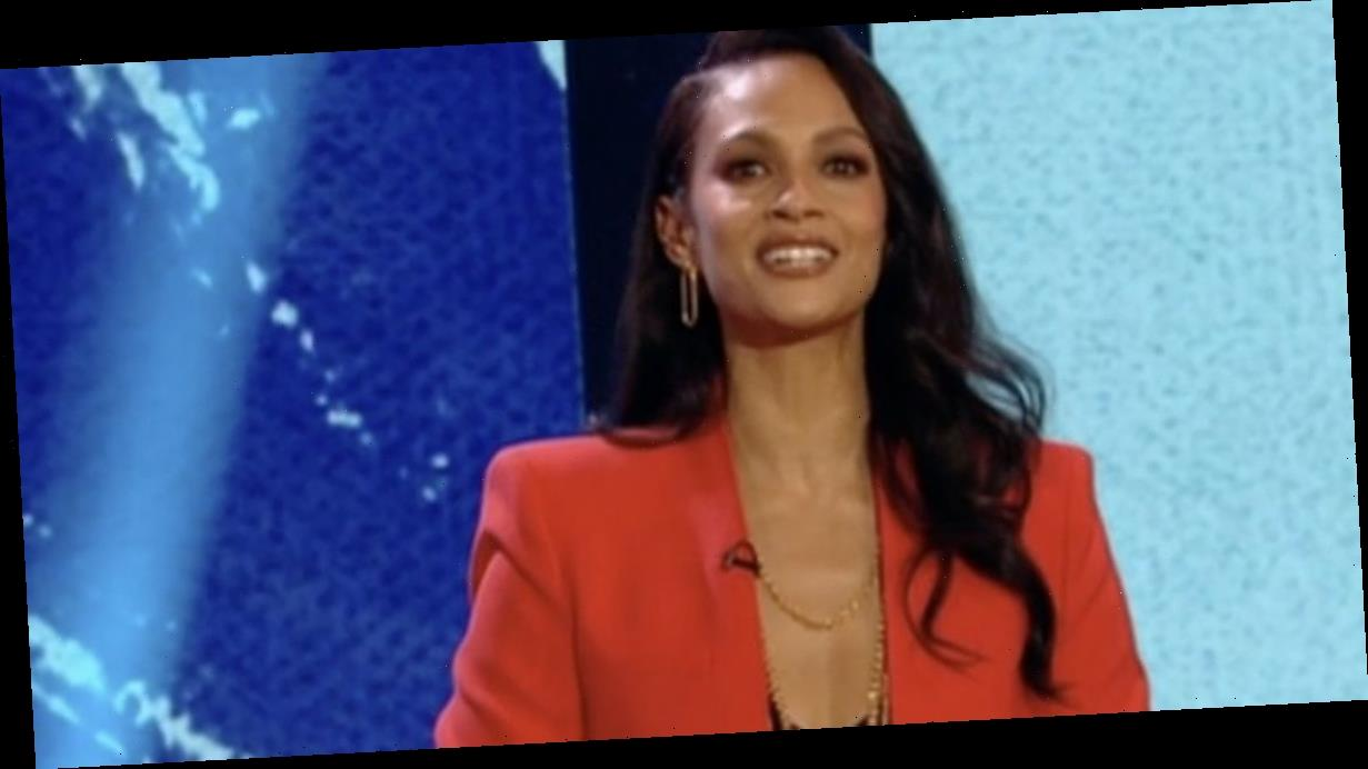 Comic Relief fans smitten as Alesha Dixon hosts in sophisticated red two-piece
