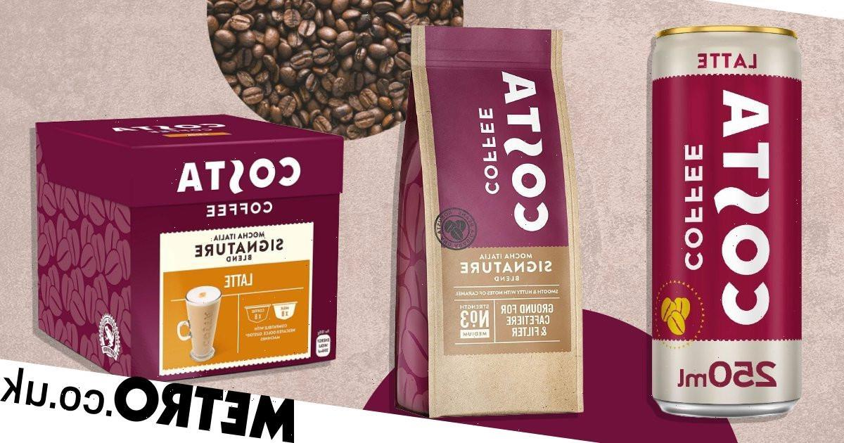 Costa slashes price of at home cans, pods and bags of coffee to 50p