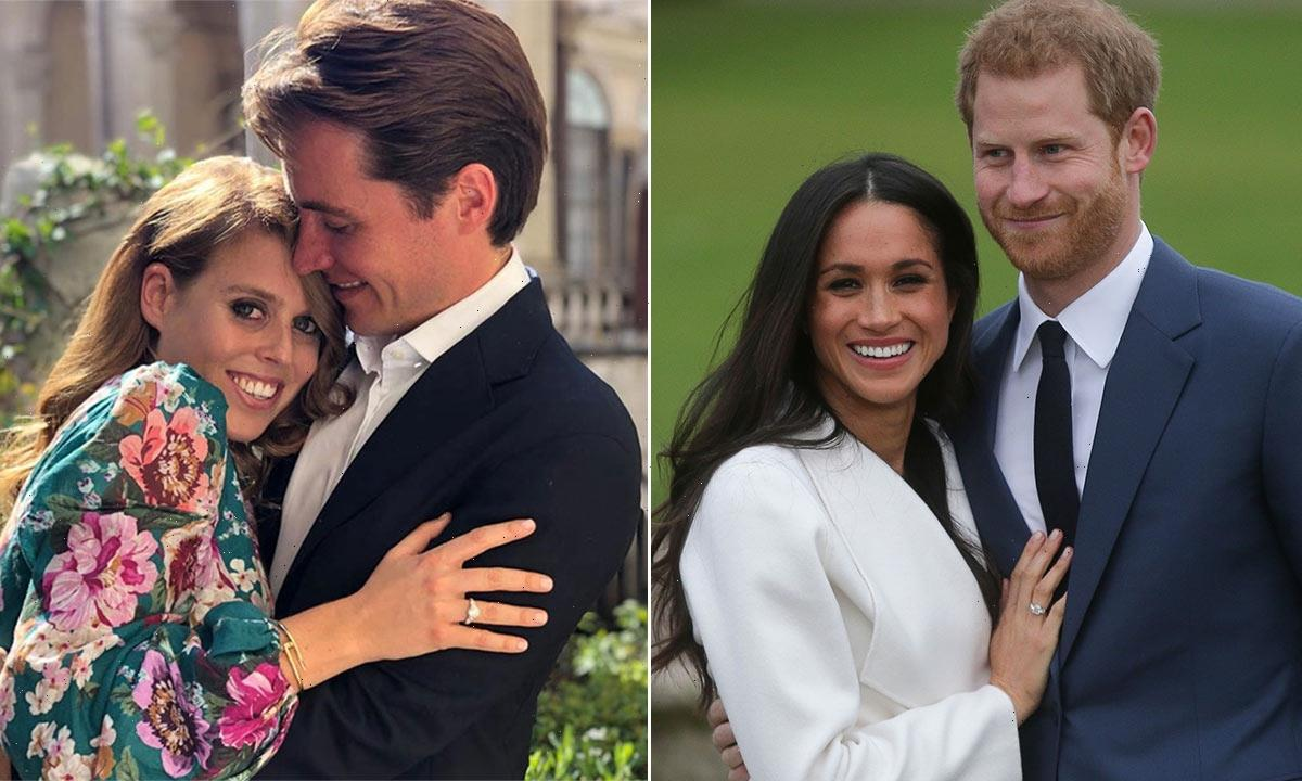 The special connection between Meghan Markle and Princess Beatrice's engagement rings