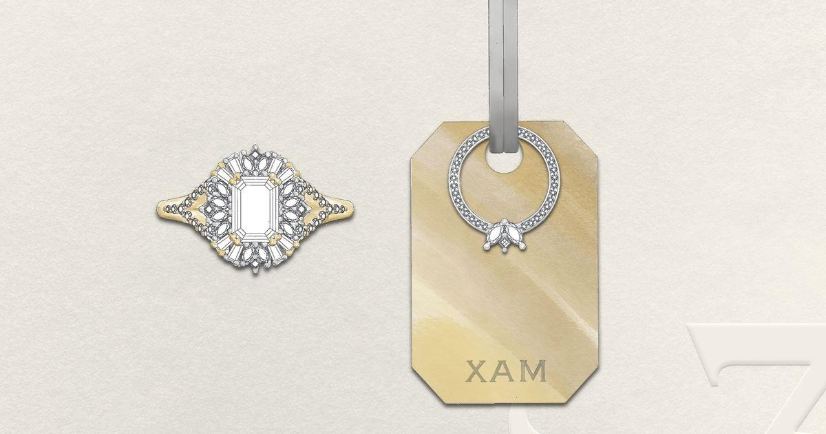 You can now buy bespoke dog tags for your pooch to match your engagement ring