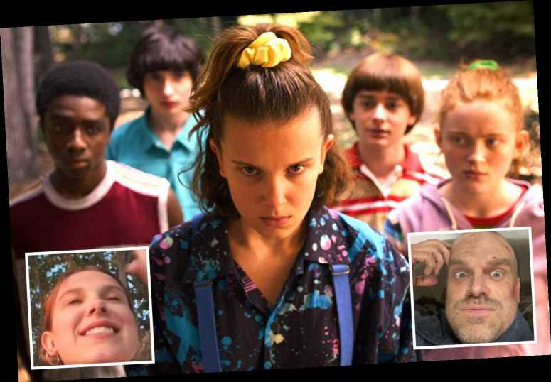 Stranger Things' Millie Bobby Brown begs David Harbour to stop dropping season 4 spoilers in chaotic live vid