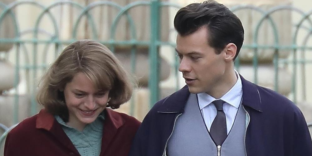 Harry Styles & Emma Corrin Get Back to Work Filming 'My Policeman'