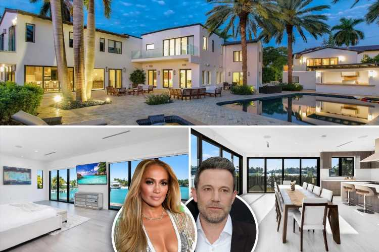 Inside JLo & Ben Affleck's $18M Miami lovenest featuring private beachfront, full gym & hot tub as romance heats up