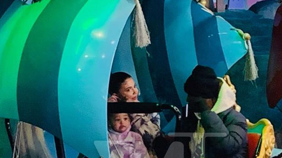 Kylie Jenner and Travis Scott Together with Stormi at Disney World