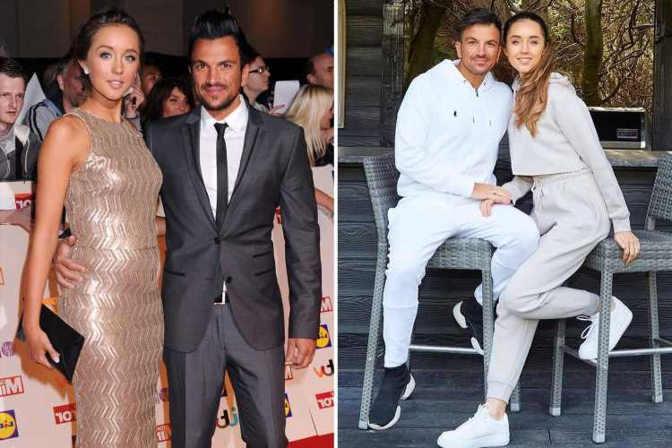 Peter Andre's wife Emily pours cold water on baby plans saying she's 'definitely not tempted' and isn't broody