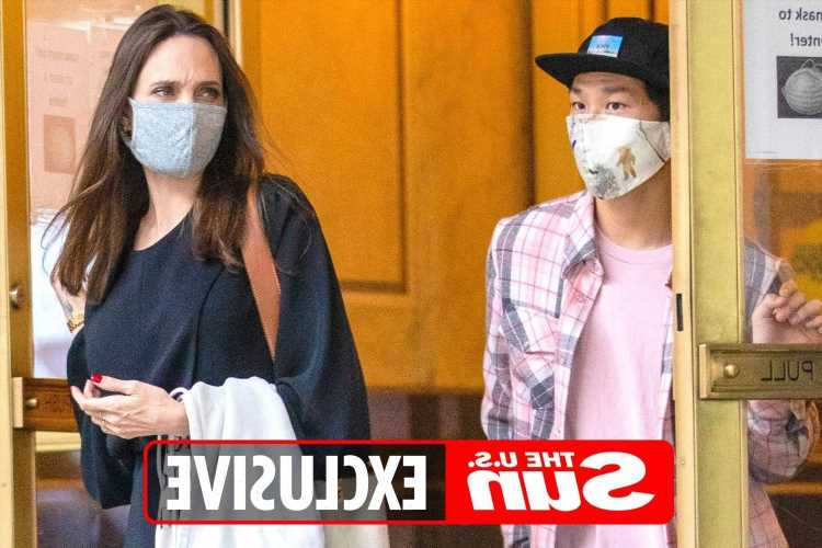 Angelina Jolie is 'reconnecting' with ex & 'first love' Jonny Lee Miller & he has already met Knox, 12, and Pax,17