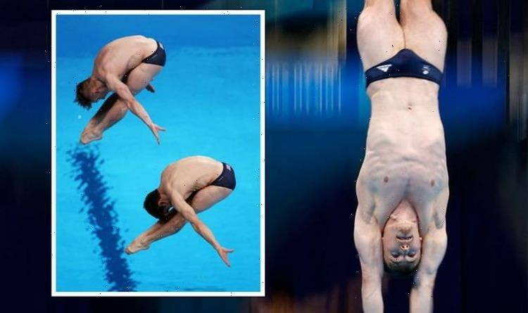 Dismal! BBC commentators brutal as Team GB swimmers mess up dive flat on his back!
