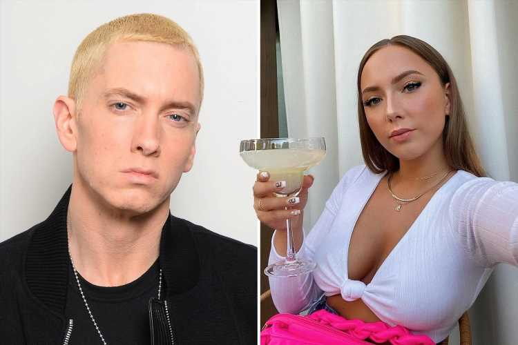 Eminem's daughter Hailie Jade Mathers, 25, shows off abs in a low-cut crop top as she sips a beverage in rare photo