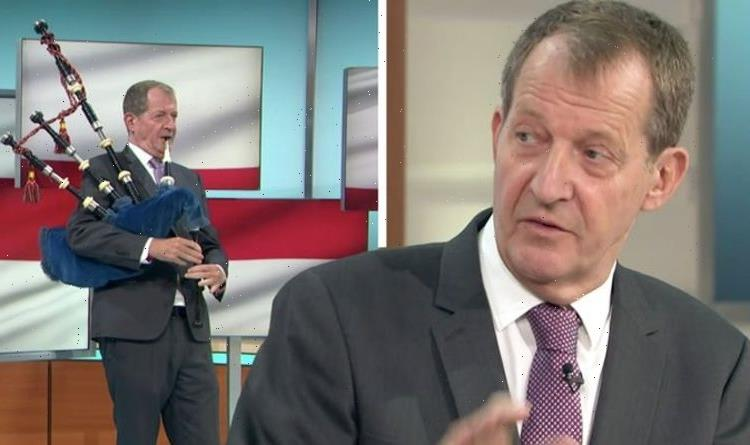 GMB viewers 'turn over' after Alastair Campbell's horrible bagpipe playing