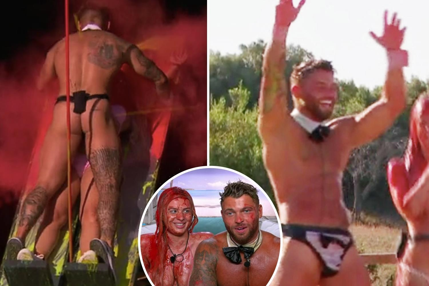 Love Island fans stunned by Jake's bulge as boys strip to tiny pants for task