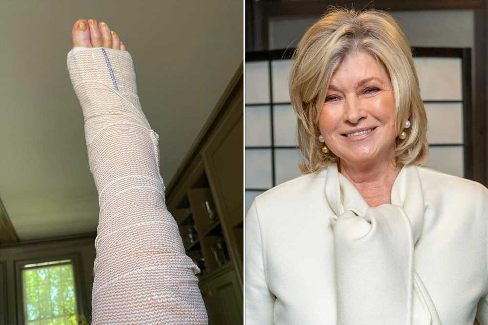 Martha Stewart recovering from surgery to repair ruptured Achilles tendon