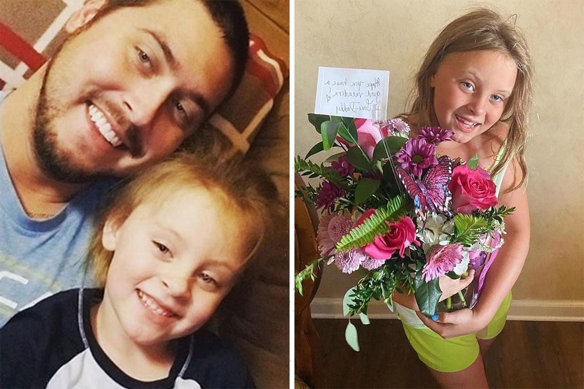 Teen Mom Leah Messer's ex-husband Jeremy surprises their daughter Addie, 8, with flowers after she hinted he NEVER calls