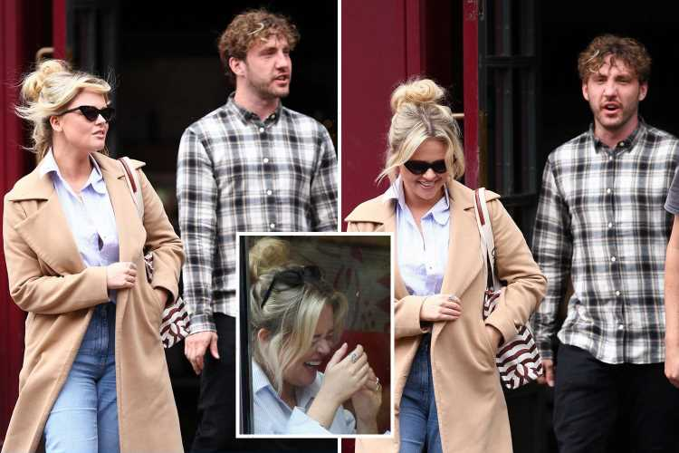 Exes Emily Atack and Seann Walsh reunite for a Nandos five years after they dated