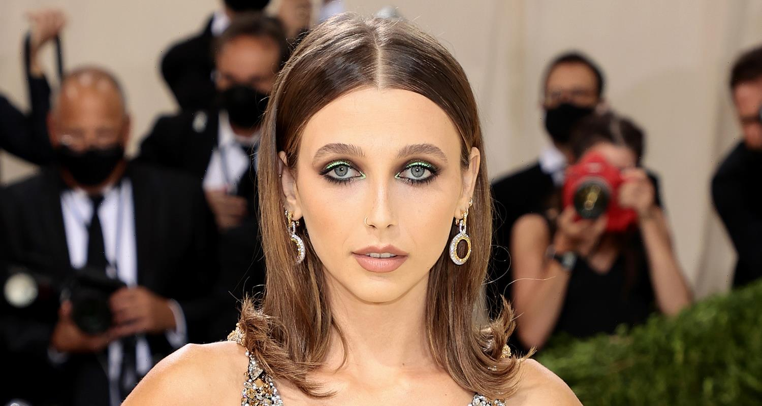 Emma Chamberlain Goes For Gold at Met Gala 2021