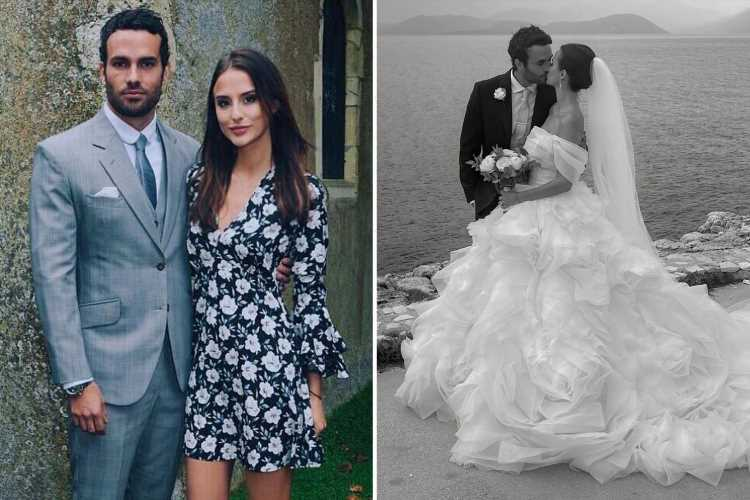 Made In Chelsea's Lucy Watson reveals incredible first wedding pic after marrying James Dunmore in Greece