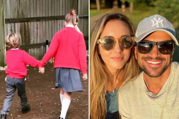 Peter Andre admits wife Emily was 'a mess' in emotional post about son Theo's first day at 'big school'