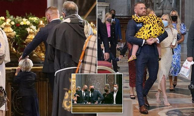 Conor McGregor attends son Rían's christening at The Vatican in Rome