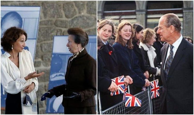 Princess Annes curious body language mimics Prince Philip in landmark royal outing